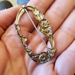 Vintage Jewelry - FINAL❣Vintage Art Nouveau Sterling Flower Brooch
